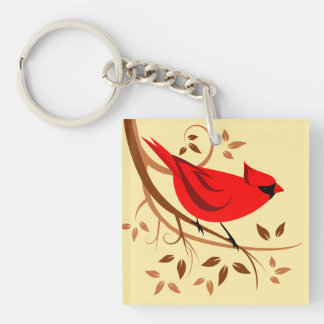 Decorative Red Cardinal Gifts Key Ring