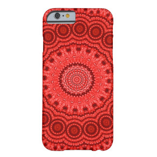 Decorative Red Mandala Indie Art Barely There iPhone 6 Case