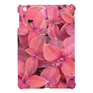 Decorative red plants case for the iPad mini