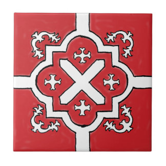 Decorative Red Spanish Style tile