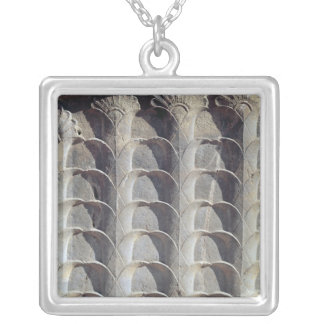 Decorative relief from the east stairway silver plated necklace