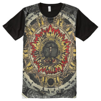 Decorative Religious Saint Mandala Art All-Over Print T-Shirt