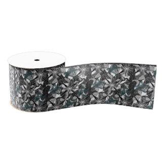 decorative ribbon black white print grosgrain ribbon