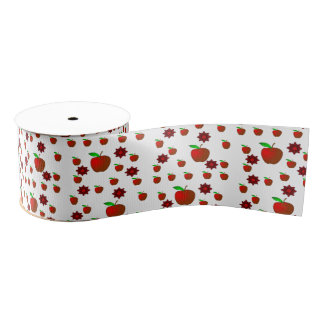 decorative ribbon red apples grosgrain ribbon