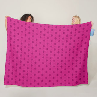 Decorative Royal Pink Princess Satin Pattern Fleece Blanket