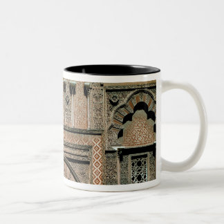 Decorative scheme above the doorway Two-Tone coffee mug