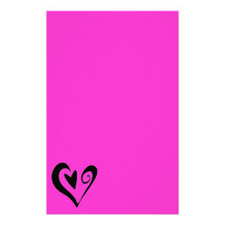 DECORATIVE SCROLLED HEART VECTOR GRAPHIC LOVE FRIE PERSONALIZED STATIONERY