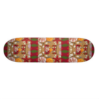 Decorative Seashells and Sand Design Skateboard