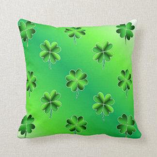 Decorative Shamrocks St Patrick's Day Throw Pillow