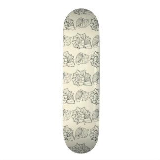 Decorative Shells Pattern 21.3 Cm Mini Skateboard Deck