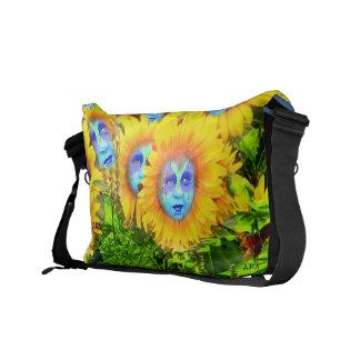 DECORATIVE SHOULDER BAG - SUNFLOWER SPIRITS BY ARA MESSENGER BAGS