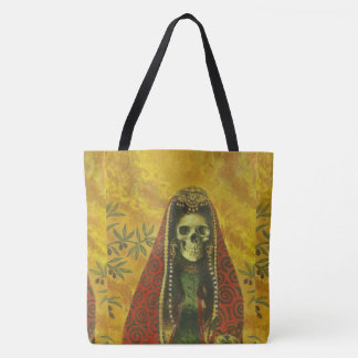 Decorative Skeleton Halloween Tote Bag