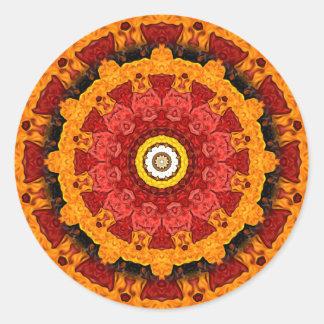 Decorative Slices of Orange Round Sticker