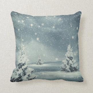 Decorative Snow Blue & White Ball Merry Christmas Cushion
