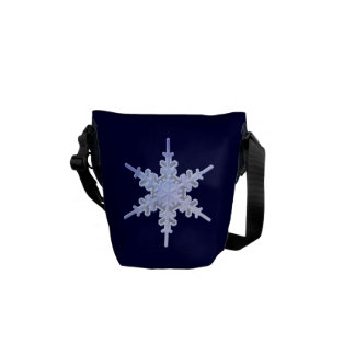 Decorative Snowflake Courier Bag