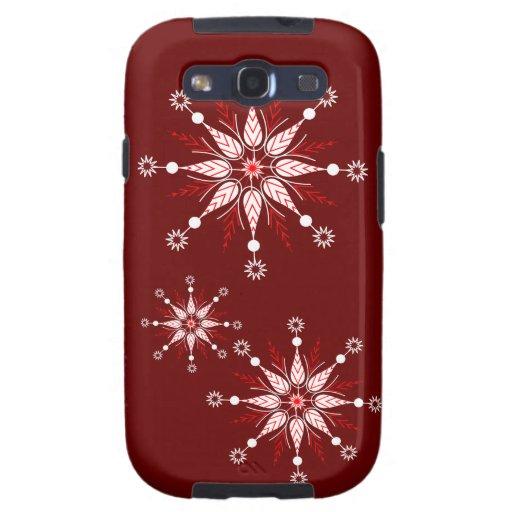 Decorative snowflakes customisable case galaxy s3 case