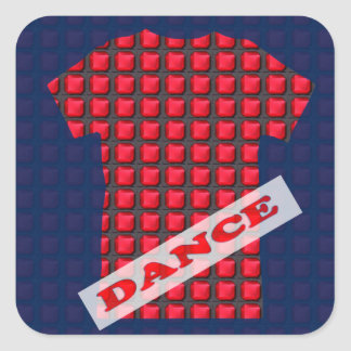 Decorative Sparkle RELAX DANCE PARTY Gems BLANKS Square Stickers
