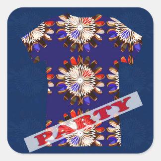 Decorative Sparkle RELAX DANCE PARTY Gems BLANKS Square Sticker
