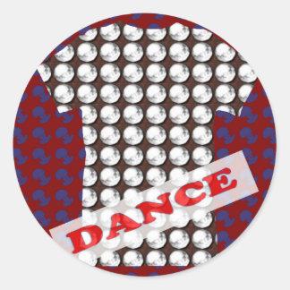 Decorative Sparkle RELAX DANCE PARTY Gems BLANKS Round Sticker