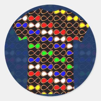 Decorative Sparkle RELAX DANCE PARTY Gems BLANKS Classic Round Sticker