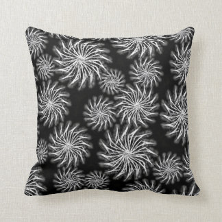 Decorative Spinning stars energetic pattern silver Throw Pillow