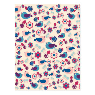 Decorative spring pattern postcard