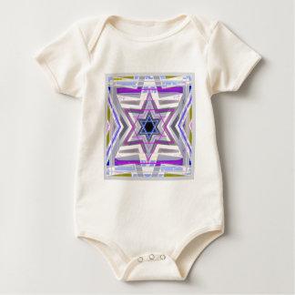 Decorative Star of David Baby Bodysuit