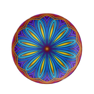 Decorative Starburst Medallion Plate Porcelain Plates