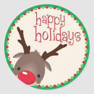DECORATIVE STICKER SEAL :: reindeer