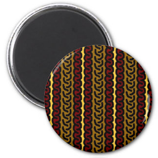 Decorative stripe magnet - ocher/red