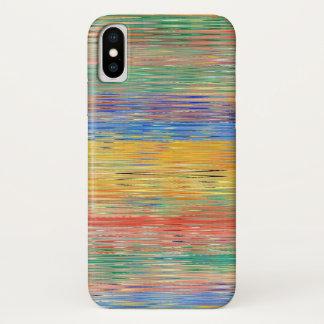 Decorative Stripes Mosaic Pattern iPhone X Case