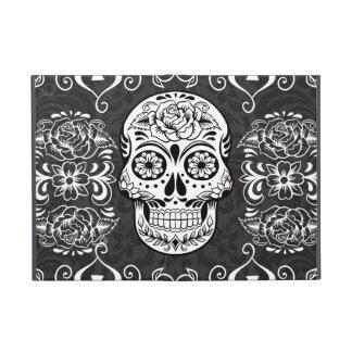 Decorative Sugar Skull Black White Gothic Grunge iPad Mini Cases