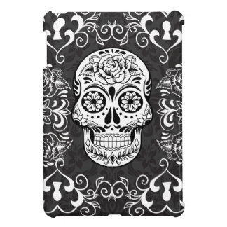 Decorative Sugar Skull Black White Gothic Grunge iPad Mini Covers