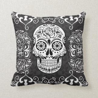 Decorative Sugar Skull Gothic Grunge Pillow
