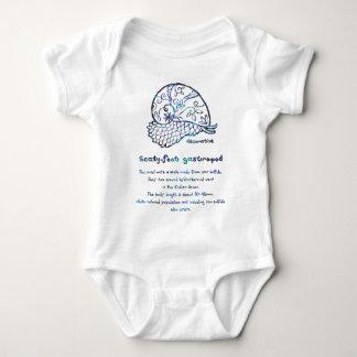 < Decorative sukerihutsuto (blue mother-of-pearl Baby Bodysuit