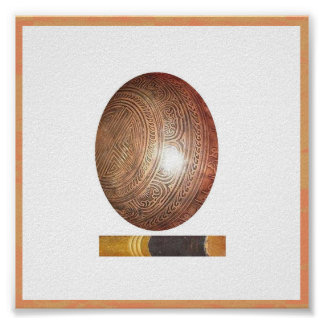 Decorative Tibetan Singing Bowl Poster