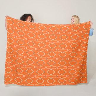 Decorative Tiki Satin Pattern Fleece Blanket