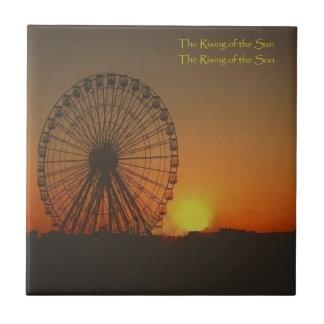 Decorative Tile - Ferris Wheel at sunrise