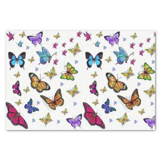 Decorative tissue paper butterflies