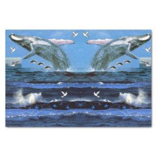 Decorative tissue paper dophins