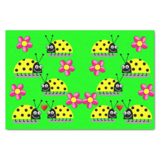 Decorative tissue paper ladybugs