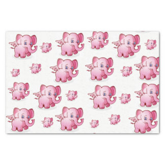 Decorative tissue paper pink pigs