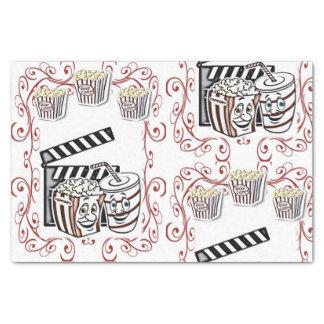 Decorative tissue paper popcorn