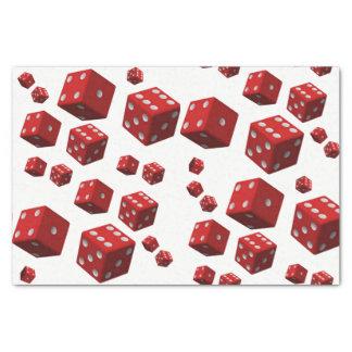 Decorative tissue paper red dice mancave