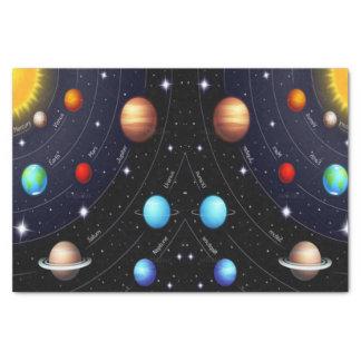 Decorative tissue paper space universe