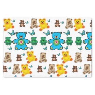 Decorative tissue paper teddy bears
