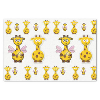 Decorative tissue paper yellow giraffe