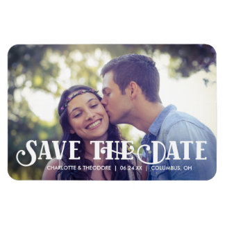 Decorative Type | Photo Save the Date Magnet