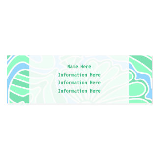 Decorative Underwater Themed Design. Business Card