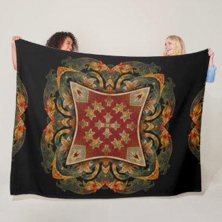Decorative Victorian Style Beetle Signet Shield Fleece Blanket